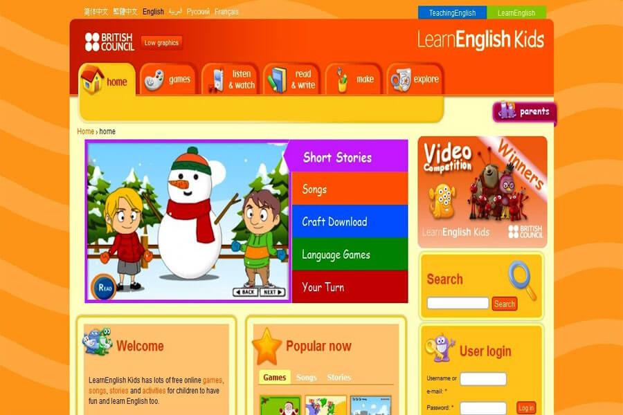 Giao diện website tự học tiếng Anh chuẩn quốc tế