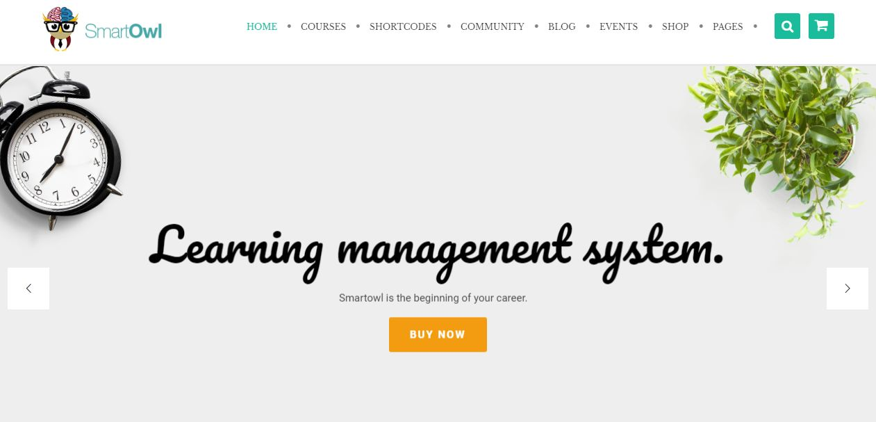 Smartowl - giao diện website học trực tuyến đẹp