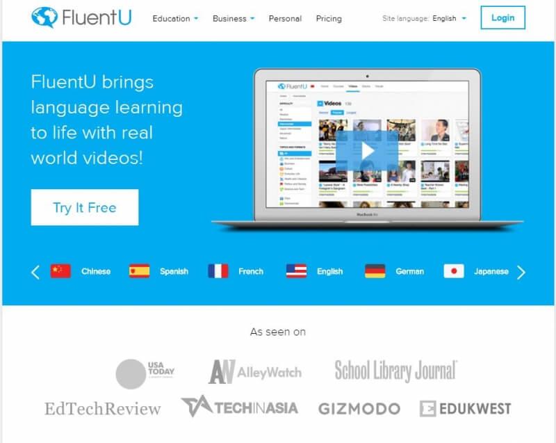 Kho video khổng lồ được cung cấp tại phần mềm FluentU