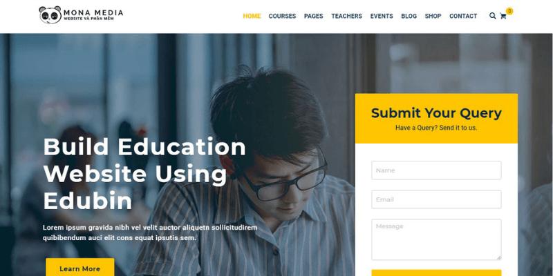 mẫu thiết kế website trung tâm ngoại ngữ